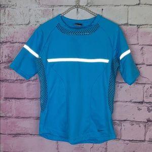 3/$25 sale Nike women's sphere mesh sides blue top